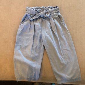 Girls light weight denim wide leg pants